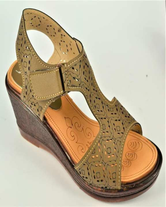 Brown Rexine Wedge for Women