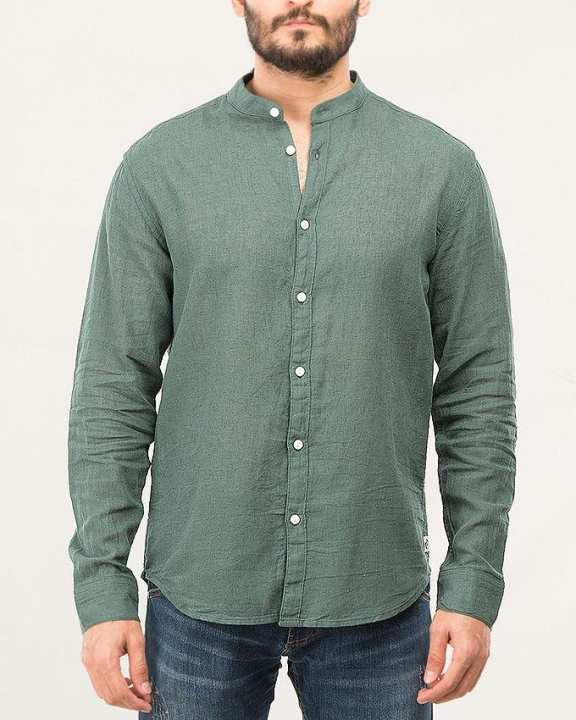 Banded Collar Shirt Polignac-Special Online Price