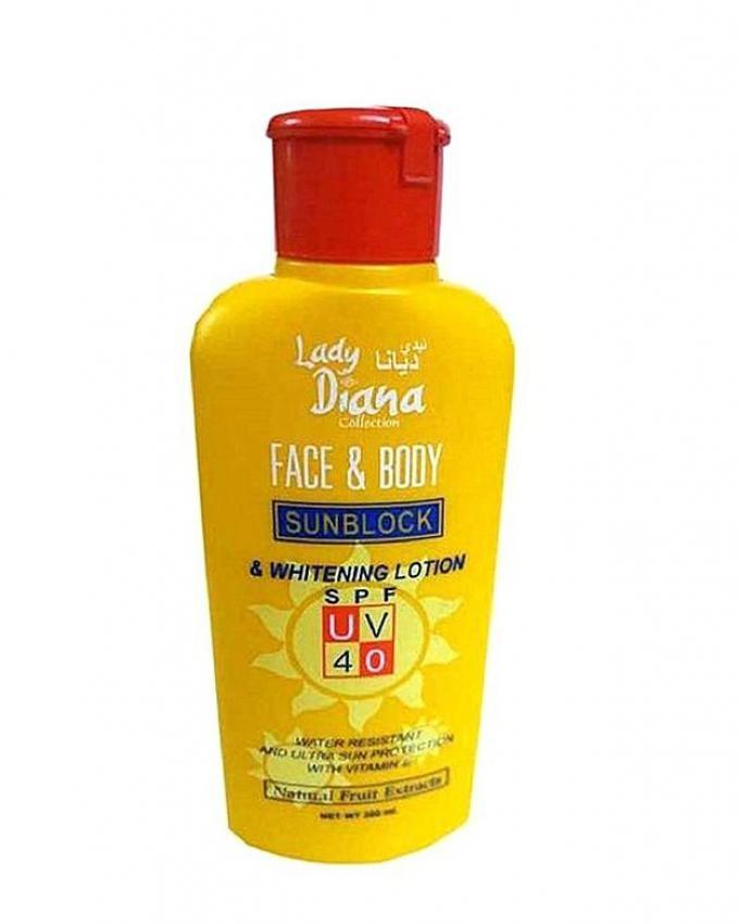Lady Diana Face And Body Sunblock Spf 40 Lotion 170ml