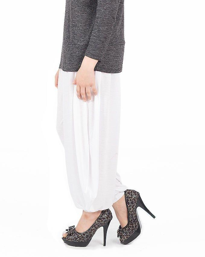 White Viscose Harem Pants For Women