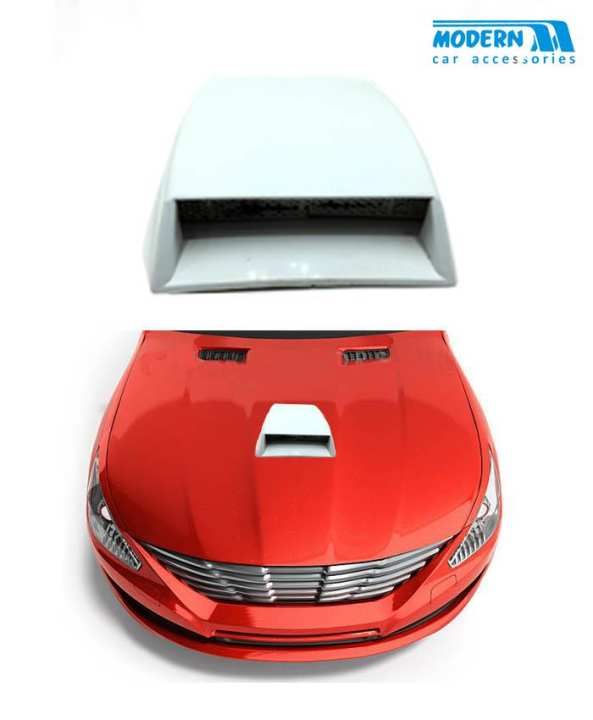 Air Flow For Car Hood Small Size White