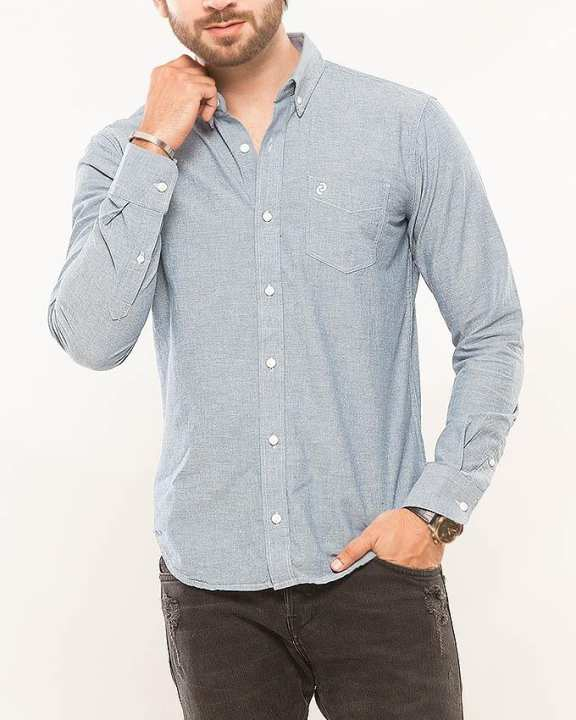 SKY BLUE Woven Shirt For Men Special Online Price