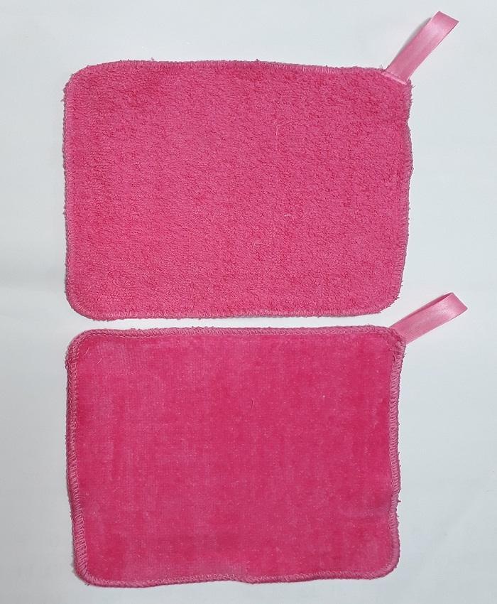 Set of 12 Makeup Remover Washcloths - Neon Pink