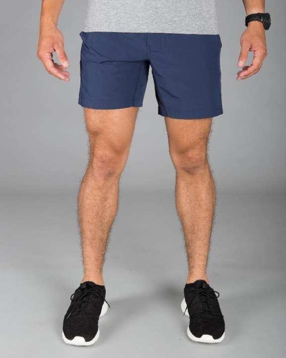 Mako Blue Plain Shorts