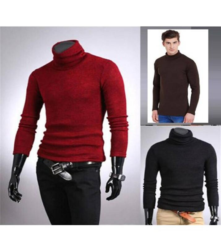 2a452371ab8 Pack of 3 - Multicolor Fleece High Neck T-Shirt For Men