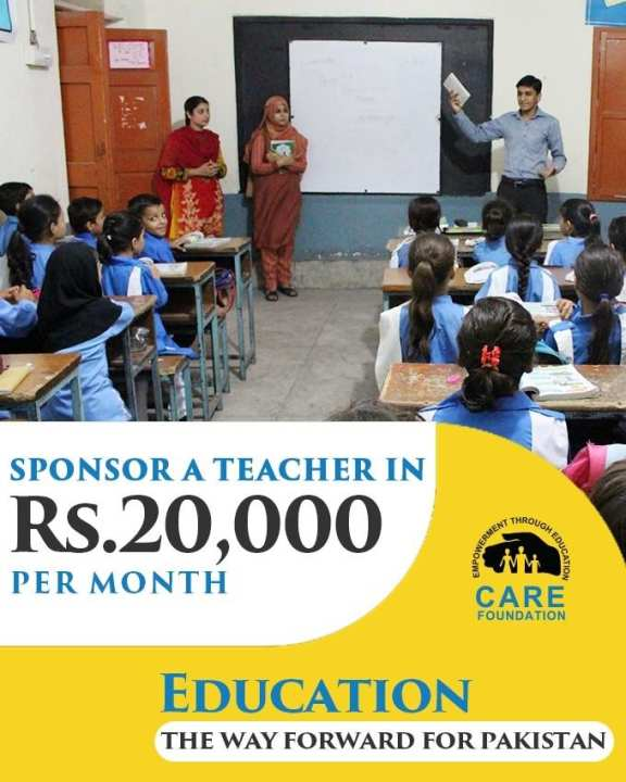 Sponsor A Teacher For A Month