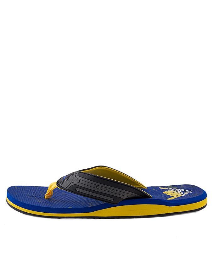 Royal Blue Synthetic Flip Flops for Men