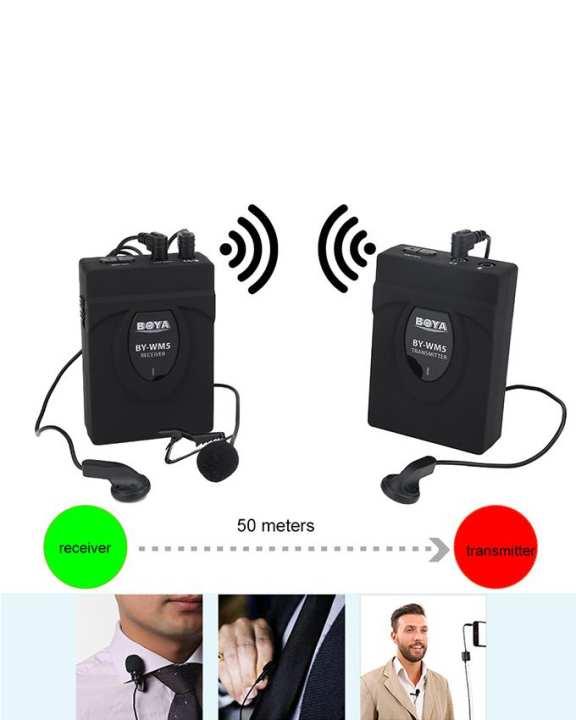 Boya WM5 - Wireless Lavalier Microphone for Cameras - Black