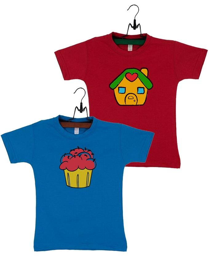 Pack Of 2 Cup Cake Kids T Shirt Combo