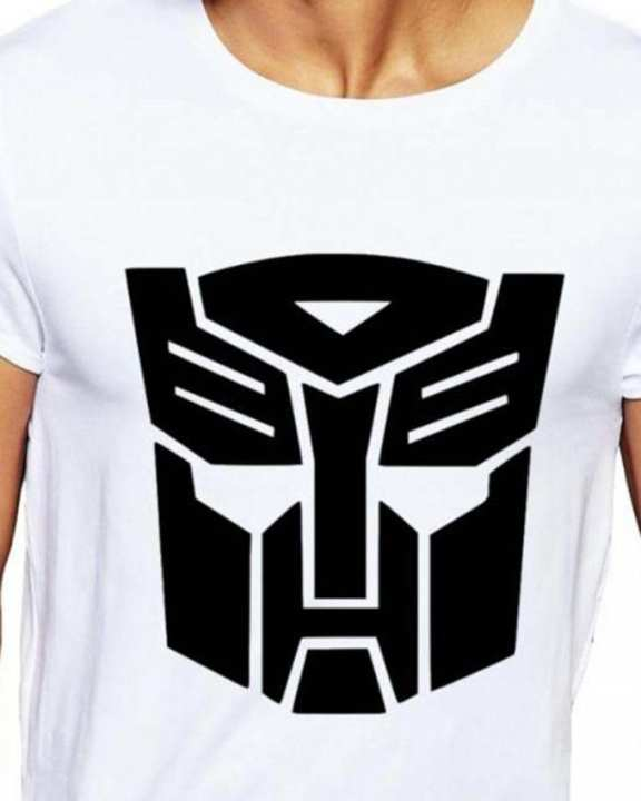 White Cotton Transformers Autobot T-Shirt For Men