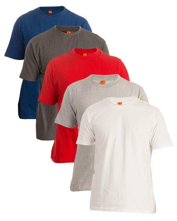 Pack of 5 - Multicoloured Cotton TShirts For Men