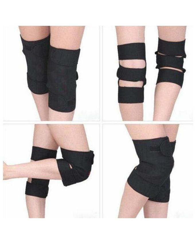Pair Of Magnetic Knee Support - Black