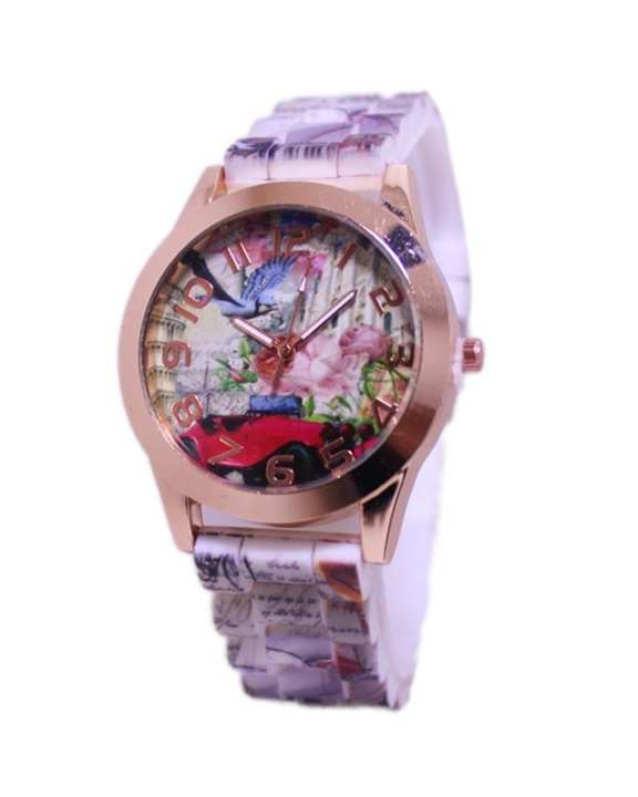 Multicolor Rubber Watch for Girls