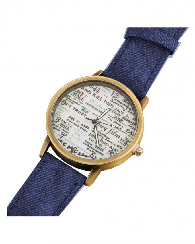 Dark Blue Denim Analog Watch