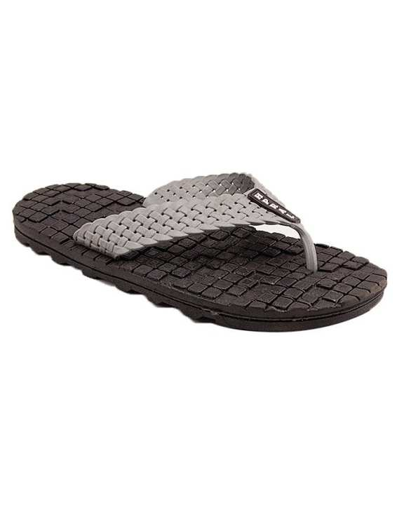 AEYS - Black Rubber Slippers for Men