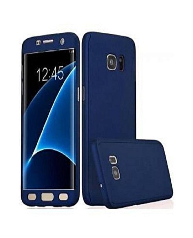 best authentic 86e26 2052e Samsung Galaxy C7 Pro 360 Premium Quality Case With Glass Protector-Blue