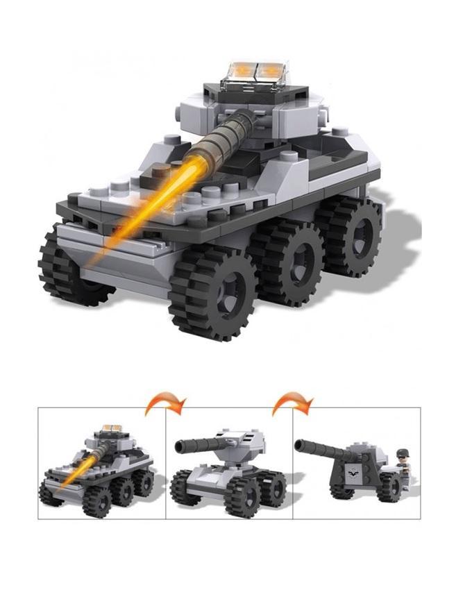 Cogo Army Vehicle Building Blocks - Tank