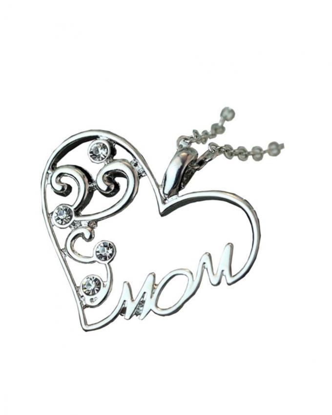 Silver Alloy Love Pendant For Women