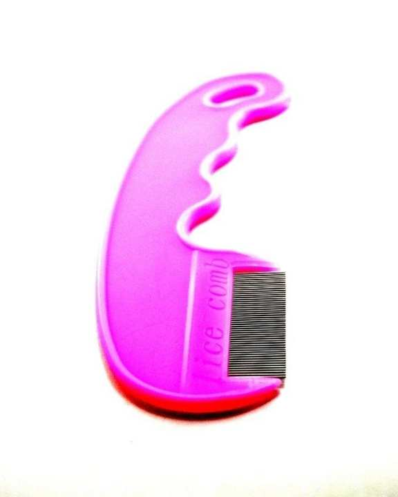 Lice Comb with Handle - Pink