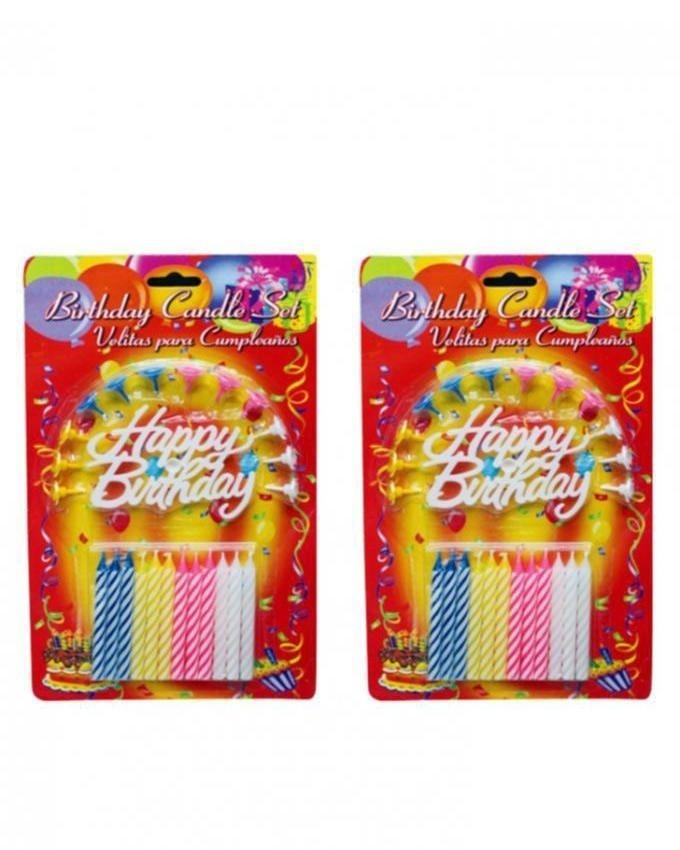 11 - Pack of 2 - Birthday Candle - Multicolor