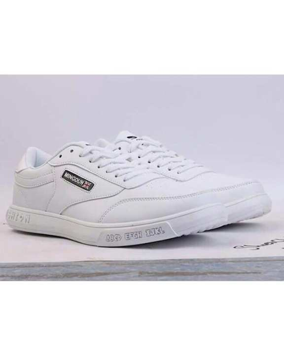 White Canvas Sneakers For Men