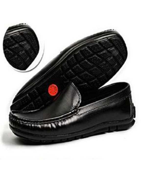 Mens Black Shiner Casual Loafer