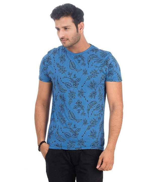 Royal Blue Jersey Tshirt For Men - Ttc-009