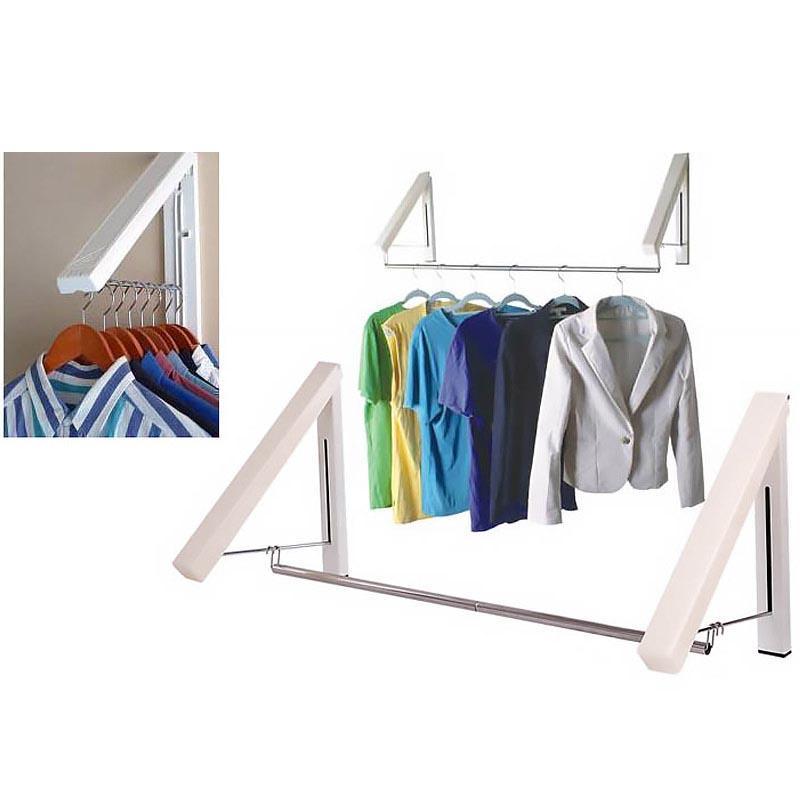 Folding Hidden Wall Mount Hanger Retractable Indoor Bedroom Clothes Towel Rack Buy Online At Best Prices In Pakistan Daraz Pk