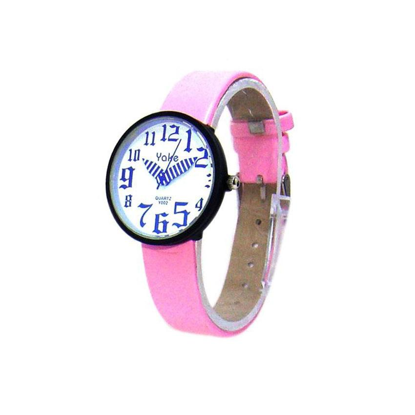 Pink Rubber Analog Dial Stylish Watch for Girls