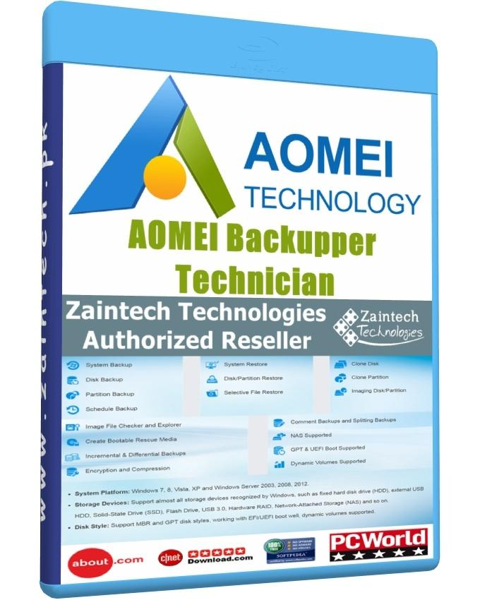 AOMEI Backupper Technician With Lifetime Free Upgrades - Windows PCs & Servers