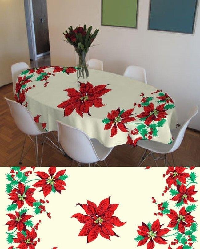 Daraz.pk & Cream Poly Cotton Printed Table Cover