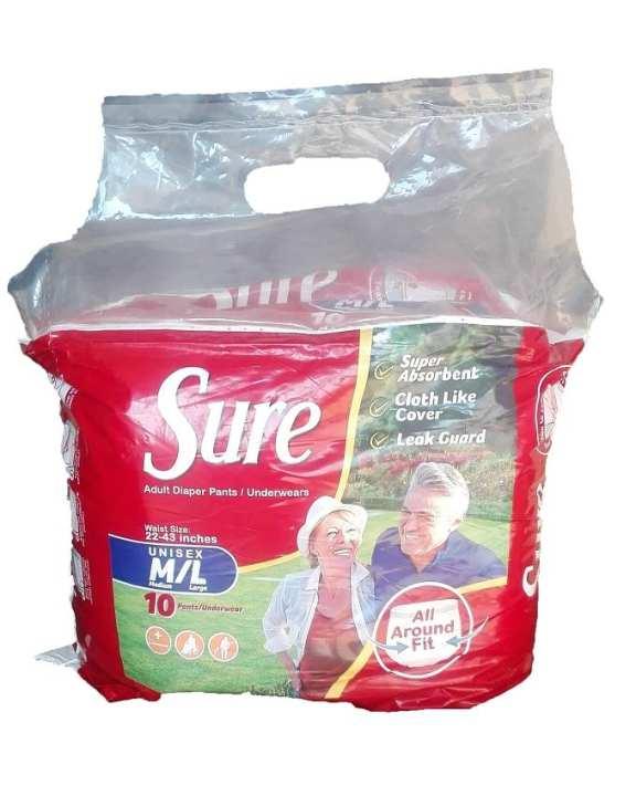 Adult Diaper Pant Medium/Large - 10 pcs
