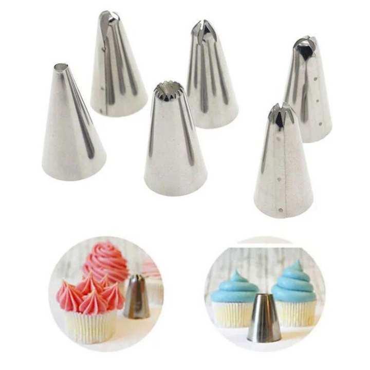 Cake Decorator Set - Six Nozzles - Six Shapes
