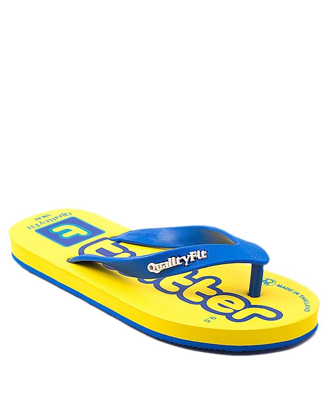 Yellow Rubber Slippers For Men