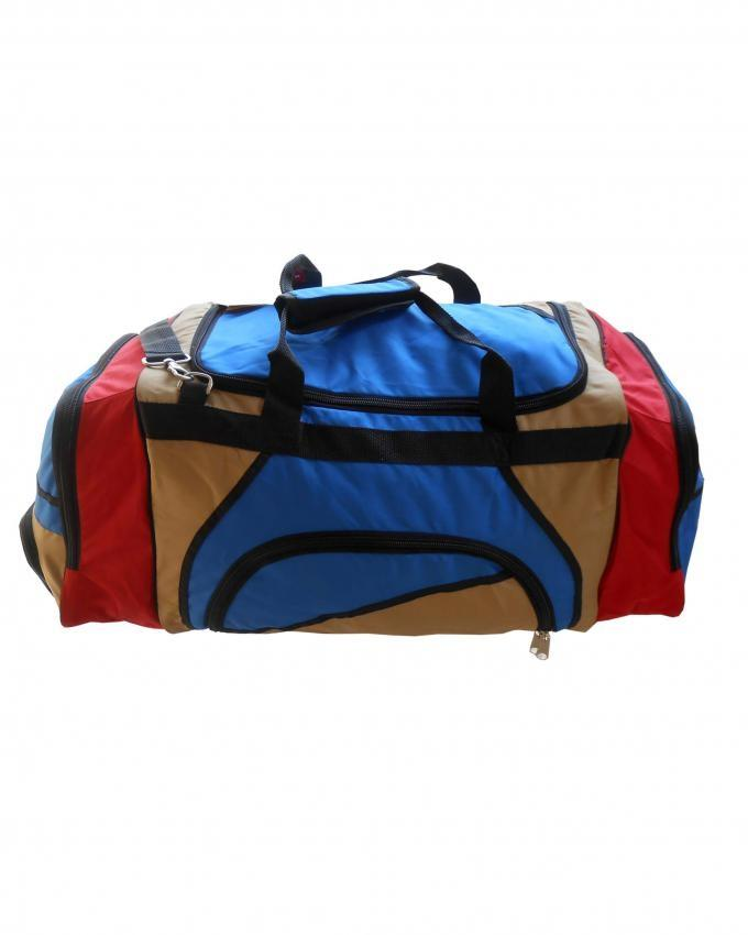 Travel Bag - Large - Red, Khaki & Royal Blue