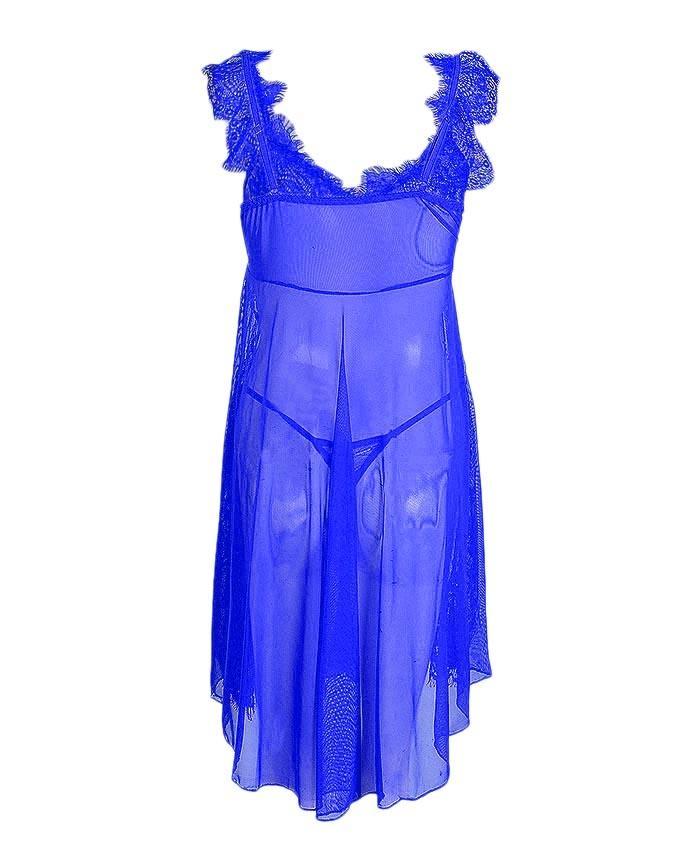 Blue Net Nightwear for Women - 8131BL