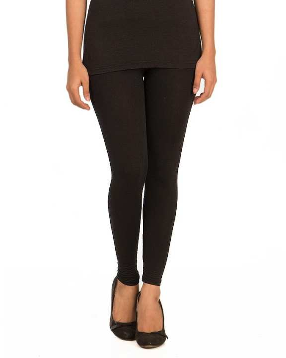 Black Jersey Tights For Women - FA0238