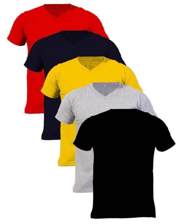 Pack Of 5 V-Neck High Quality T-Shirts