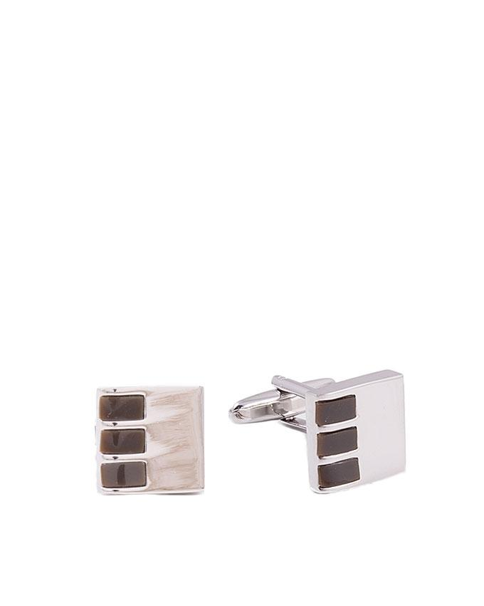 Brown Stone Studded Cufflinks for Men - GEP-30