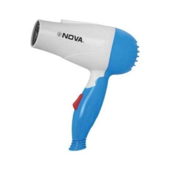 1000W - Heavy Duty Electric Foldable Hair Dryer - Blue