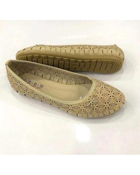 Imported Shoes For Ladies Artificial Leather In Imported Material-Bbh-12-Apricot-44
