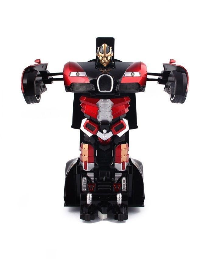 Transformer Bugatti Car Robot With Remote Control - Black & Red