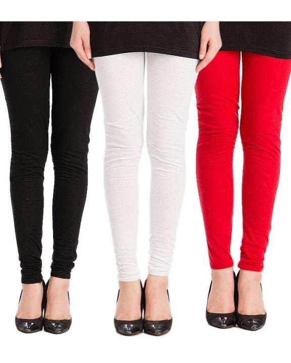 Pack of 3 - Multi Color Cotton Tights For Women