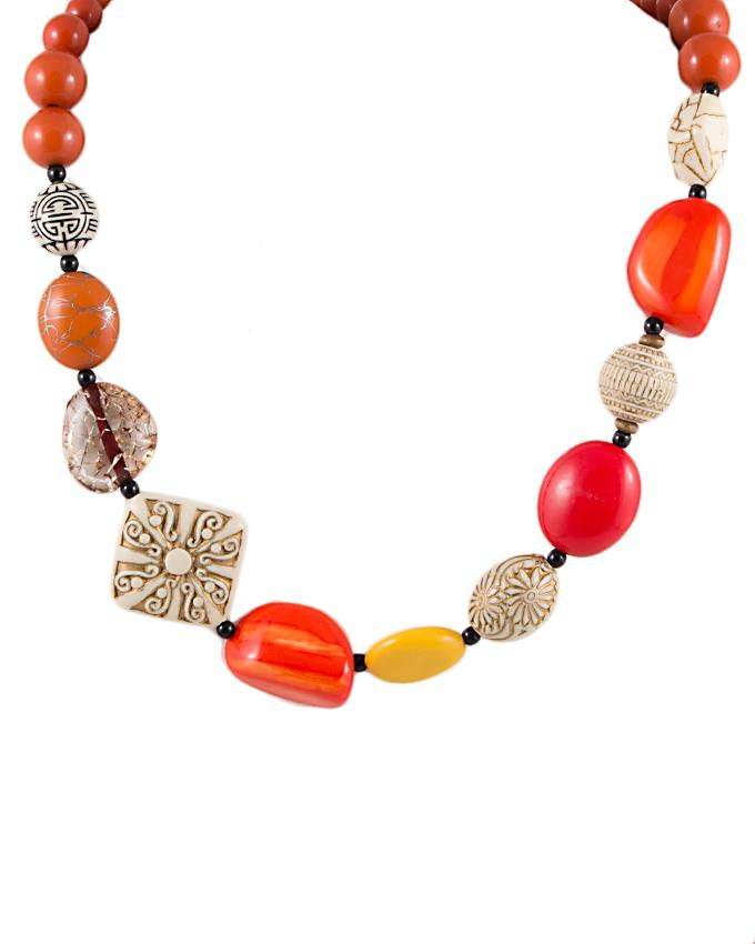 Multi Color Beads Necklace for Women