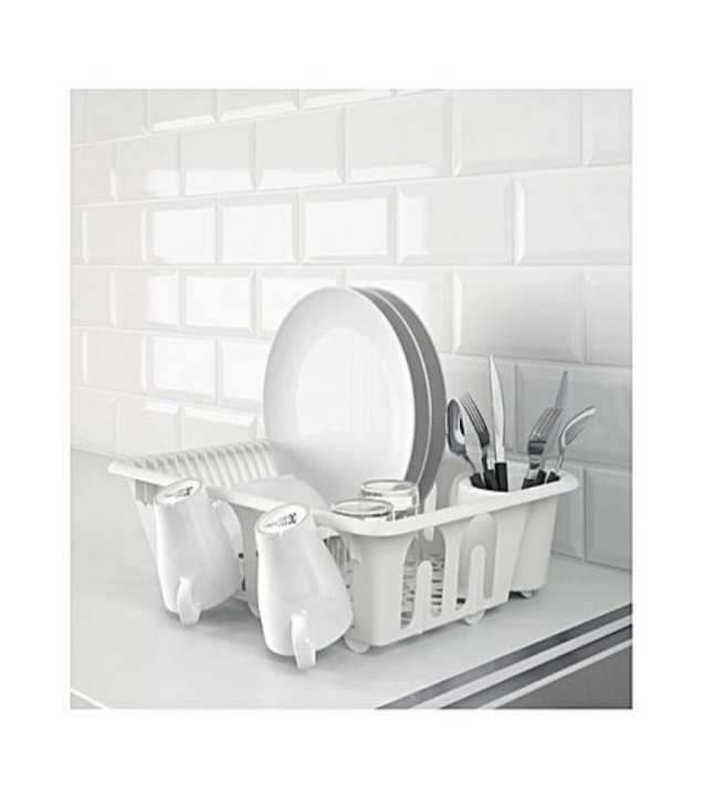 Kitchen Dish Drainer - Sink Use - Used As A Stand - White - Plastic