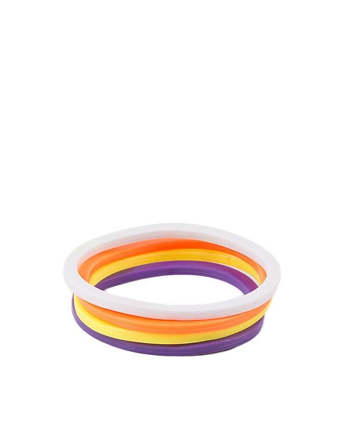 Pack of 4 Multicolour Rubber Bracelet for Women