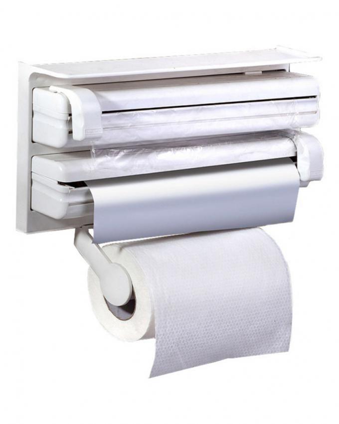 Kitchen Paper Roll Cutter/Dispenser - White