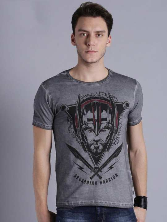 Steel Grey Thor Printed T-shirt For Men