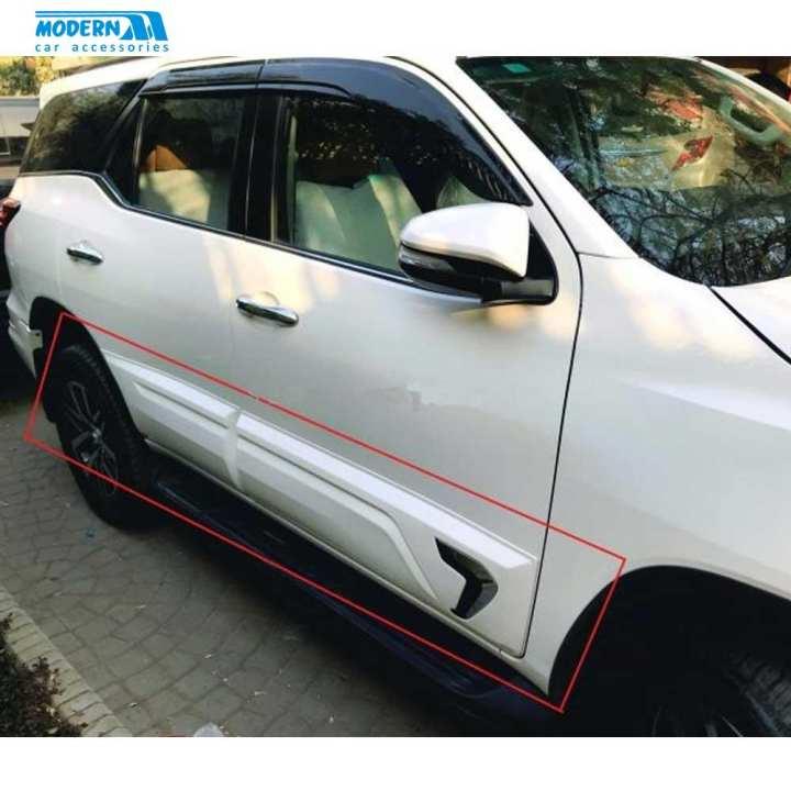 Toyota Fortuner Body Clidding Chrome Thailand 4 Pieces - Model 2016-2017