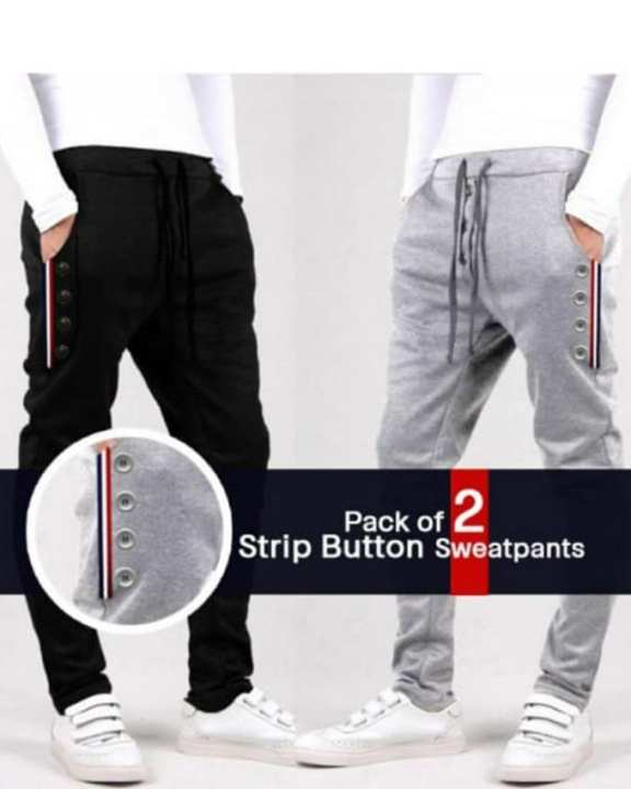 Pack Of Two Strip Sweatpants-Live Shop